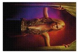 """Пазл 73.5 x 48.8 (1000 элементов) """"Неоновый демон"""" - девушка, кино, мечта, модель, эль фаннинг"""