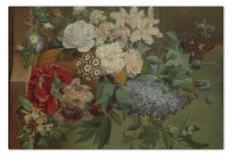 """Пазл 73.5 x 48.8 (1000 элементов) """"Цветы в терракотовой вазе"""" - картина, бранд"""