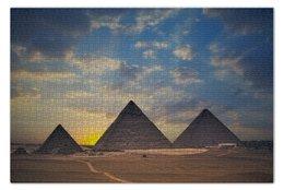 """Пазл 73.5 x 48.8 (1000 элементов) """"Пирамиды"""" - египет, egypt, пирамиды, pyramids"""