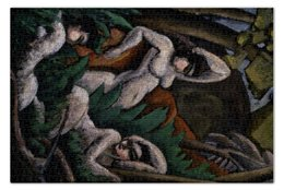 """Пазл 73.5 x 48.8 (1000 элементов) """"Лето (картина Макса Вебера)"""" - картина, живопись, кубизм, модерн, вебер"""