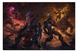 "Пазл 73.5 x 48.8 (1000 элементов) ""Diablo III"" - blizzard, диабло, близзард, варвар, barbarian"