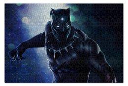 """Пазл 73.5 x 48.8 (1000 элементов) """"Черная пантера"""" - марвел, комиксы, black panther, черная пантера"""