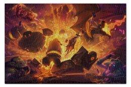 "Пазл 73.5 x 48.8 (1000 элементов) ""Черная Гора"" - карты, дракон, гора, hearthstone, хартстоун"