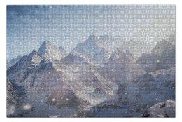 """Пазл 73.5 x 48.8 (1000 элементов) """"Mountains"""" - снег, облака, горы, скалы"""