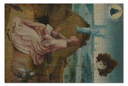"""Пазл 73.5 x 48.8 (1000 элементов) """"Святой Иоанн на Патмосе (картина Босха)"""" - картина, босх"""