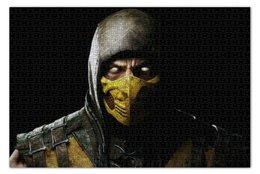 "Пазл 73.5 x 48.8 (1000 элементов) ""Скорпион (Scorpion)"" - mortal kombat, смертельная битва, мортал комбат, scorpion"