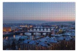 """Пазл 73.5 x 48.8 (1000 элементов) """"Прага"""" - chech, prague, чехия"""