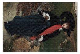 """Пазл 73.5 x 48.8 (1000 элементов) """"Портрет Мэй Сарторис (Portrait of May Sartoris)"""" - картина, лейтон"""