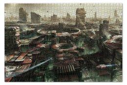 """Пазл 73.5 x 48.8 (1000 элементов) """"Город будущего"""" - будущее, киберпанк, cyberpank, future"""