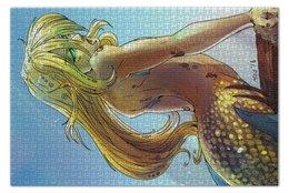 """Пазл 73.5 x 48.8 (1000 элементов) """"Вакин"""" - море, океан, русалка, projectpanda, вакин"""