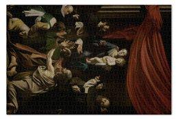 """Пазл 73.5 x 48.8 (1000 элементов) """"Мадонна с чётками (Караваджо)"""" - картина, караваджо, живопись"""