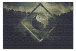 "Пазл 73.5 x 48.8 (1000 элементов) ""Yin yang forest"" - лес, китай, china, инь-ян"