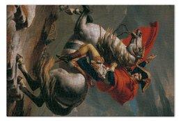"""Пазл 73.5 x 48.8 (1000 элементов) """"Наполеон на перевале Сен-Бернар"""" - картина, давид"""