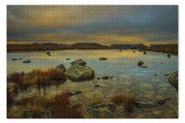 "Пазл 73.5 x 48.8 (1000 элементов) ""Mountain lake"" - горы, пейзаж, landscape, озеро"
