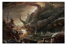 "Пазл 73.5 x 48.8 (1000 элементов) ""Steampunk War"" - война, war, корабль, steampunk, стимпанк"