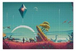 "Пазл 73.5 x 48.8 (1000 элементов) ""No man's sky"" - space, future, футуризм, будущее, космсос"