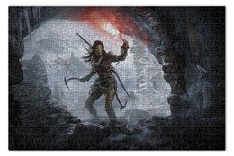 "Пазл 73.5 x 48.8 (1000 элементов) ""Tomb rider"" - лара крофт, расхитительница гробниц, томб райдер"