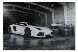 """Пазл 73.5 x 48.8 (1000 элементов) """"Lamborghini aventador"""" - италия, italia, ламборджини, ламба, авентадор"""