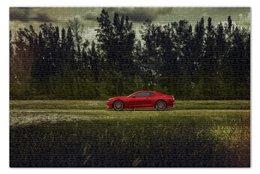 """Пазл 73.5 x 48.8 (1000 элементов) """"Chevrolet camaro"""" - лес, forest, шевроле, шеви"""