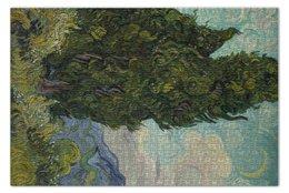"Пазл 73.5 x 48.8 (1000 элементов) ""Кипарисы (Винсент Ван Гог)"" - картина, ван гог"