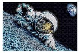 """Пазл 73.5 x 48.8 (1000 элементов) """"Космонавт"""" - space, космос, earth, земля, космонавт"""
