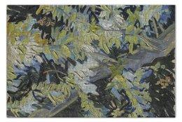 "Пазл 73.5 x 48.8 (1000 элементов) ""Ветви цветущей акации (Винсент ван Гог)"" - картина, ван гог, живопись"