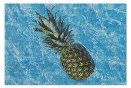 """Пазл 73.5 x 48.8 (1000 элементов) """"Лето!"""" - цветы, ананас, беззаботность, сочный ананас, сладкий ананас"""