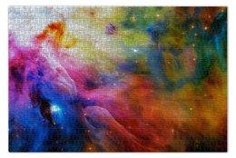 """Пазл 73.5 x 48.8 (1000 элементов) """"Deep Space"""" - космос, вселенная, дым"""