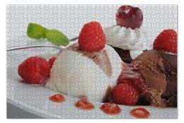 "Пазл 73.5 x 48.8 (1000 элементов) ""Мороженое"" - вишня, шоколад, малина, ice cream"
