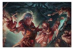 "Пазл 73.5 x 48.8 (1000 элементов) ""Diablo III"" - blizzard, диабло, близзард, монахи, monks"