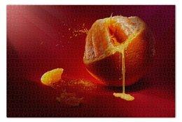 """Пазл 73.5 x 48.8 (1000 элементов) """"Апельсин"""" - orange, апельсин, цитрус"""