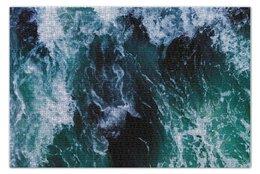"""Пазл 73.5 x 48.8 (1000 элементов) """"Бескрайнее море"""" - море, пальмы, яркие краски, flow, соленый"""