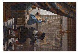 """Пазл 73.5 x 48.8 (1000 элементов) """"Мастерская художника  (картина Яна Вермеера)"""" - картина, вермеер"""