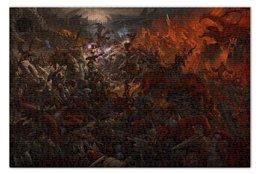 "Пазл 73.5 x 48.8 (1000 элементов) ""Battle"" - война, драконы, битва, добро и зло"