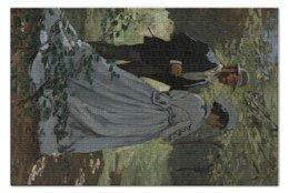 "Пазл 73.5 x 48.8 (1000 элементов) ""Базиль и Камилла (Клод Моне)"" - картина, моне"