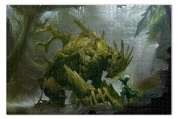 "Пазл 73.5 x 48.8 (1000 элементов) ""Swamp beast"" - дерево, существо, болото, маг, treant"