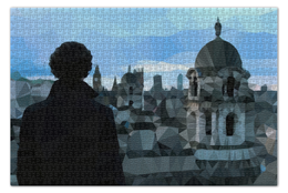 "Пазл 73.5 x 48.8 (1000 элементов) ""Low poly Sherlock"" - bbc, шерлок, бенедикт камбербэтч, benedict cumberbatch"