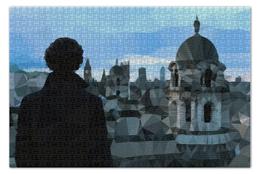 "Пазл 73.5 x 48.8 (1000 элементов) ""Low poly Sherlock"" - bbc, шерлок, бенедикт камбербэтч, benedict cumberbatch"