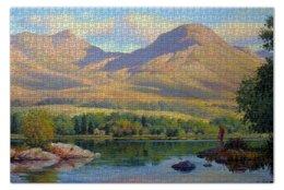 """Пазл 73.5 x 48.8 (1000 элементов) """"Coniston Water England"""" - англия, горы, пейзаж, живопись, озеро"""
