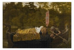 "Пазл 73.5 x 48.8 (1000 элементов) ""Элейна из Астолата (Софи Андерсон)"" - картина, живопись, софи андерсон"