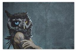 "Пазл 73.5 x 48.8 (1000 элементов) ""Owlgirl"" - девушка, girl, сова, owl"