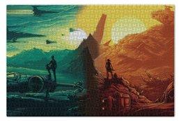 """Пазл 73.5 x 48.8 (1000 элементов) """"Звездные войны"""" - star wars, darth vader, дарт вейдер, кайло рен, kylo ren"""
