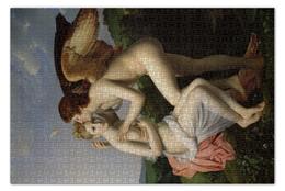 """Пазл 73.5 x 48.8 (1000 элементов) """"Амур и Психея (Франсуа Жерар)"""" - картина, поцелуй, купидон, жером, древнегреческая мифология"""