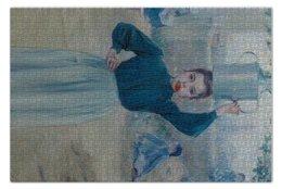 """Пазл 73.5 x 48.8 (1000 элементов) """"Деревенская девочка с красной гвоздикой"""" - картина, импрессионизм, живопись, гиард"""