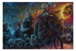 "Пазл 73.5 x 48.8 (1000 элементов) ""Зомби цирк"" - зомби, медведь, слон, енот, апщкалипсис"