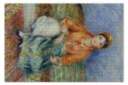 """Пазл 73.5 x 48.8 (1000 элементов) """"Алжирская девушка (картина Ренуара)"""" - картина, ренуар"""