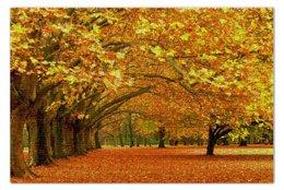 """Пазл 73.5 x 48.8 (1000 элементов) """"Осенний парк"""" - осень, деревья, парк, листва"""