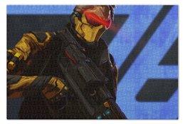 "Пазл 73.5 x 48.8 (1000 элементов) ""Soldier 76"" - blizzard, близзард, overwatch, овервотч, солдат 76"
