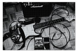 """Пазл 73.5 x 48.8 (1000 элементов) """"МУЗЫКА. РОК"""" - гитара, рок, стиль, музыкальные инструменты, натюрморт"""