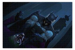 "Пазл 73.5 x 48.8 (1000 элементов) ""Batman Vs Joker"" - комиксы, джокер, бэтмен, dc comics"